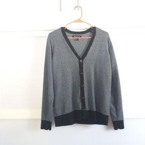 21Men Small Knit Cardigan Blue White Black